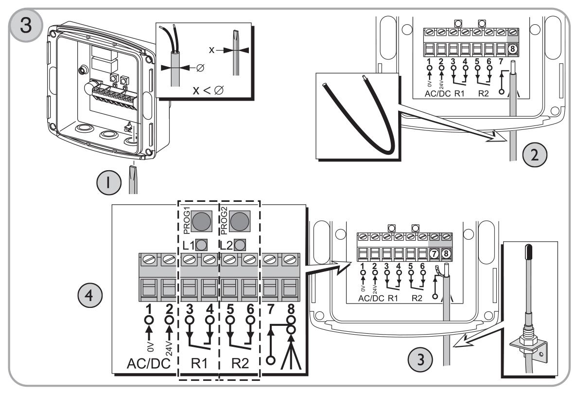 Branchement r cepteur ext rieur rts somfy sur motorisation for Branchement electrique exterieur