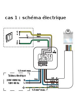 Quel branchement pour que l 39 interrupteur mural marche lors - Schema electrique volet roulant ...