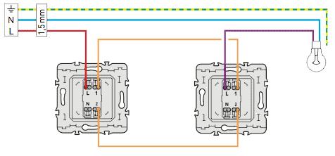 branchement micro module sur un circuit 2 interrupteurs avec r ponse s. Black Bedroom Furniture Sets. Home Design Ideas