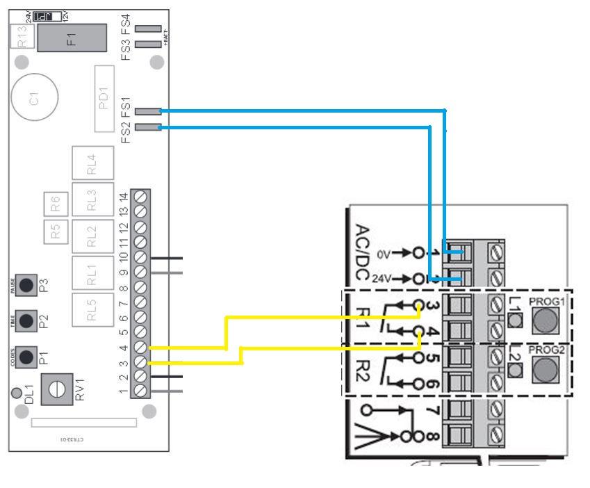 Branchement du r cepteur rts somfy 2400556 1841022 - Une seule telecommande pour portail et garage ...