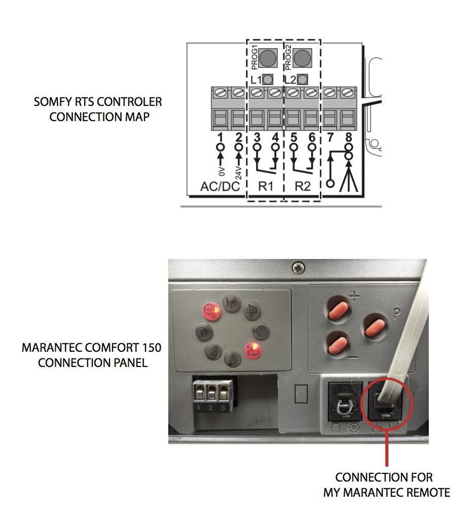 comment brancher un r cepteur somfy rts 1841022 r solue. Black Bedroom Furniture Sets. Home Design Ideas