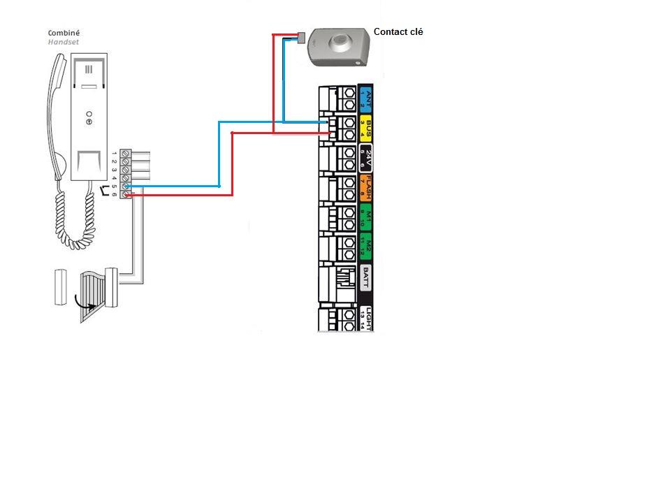 branchement interphone commande filaire sur exavia 500 avec r ponse s. Black Bedroom Furniture Sets. Home Design Ideas
