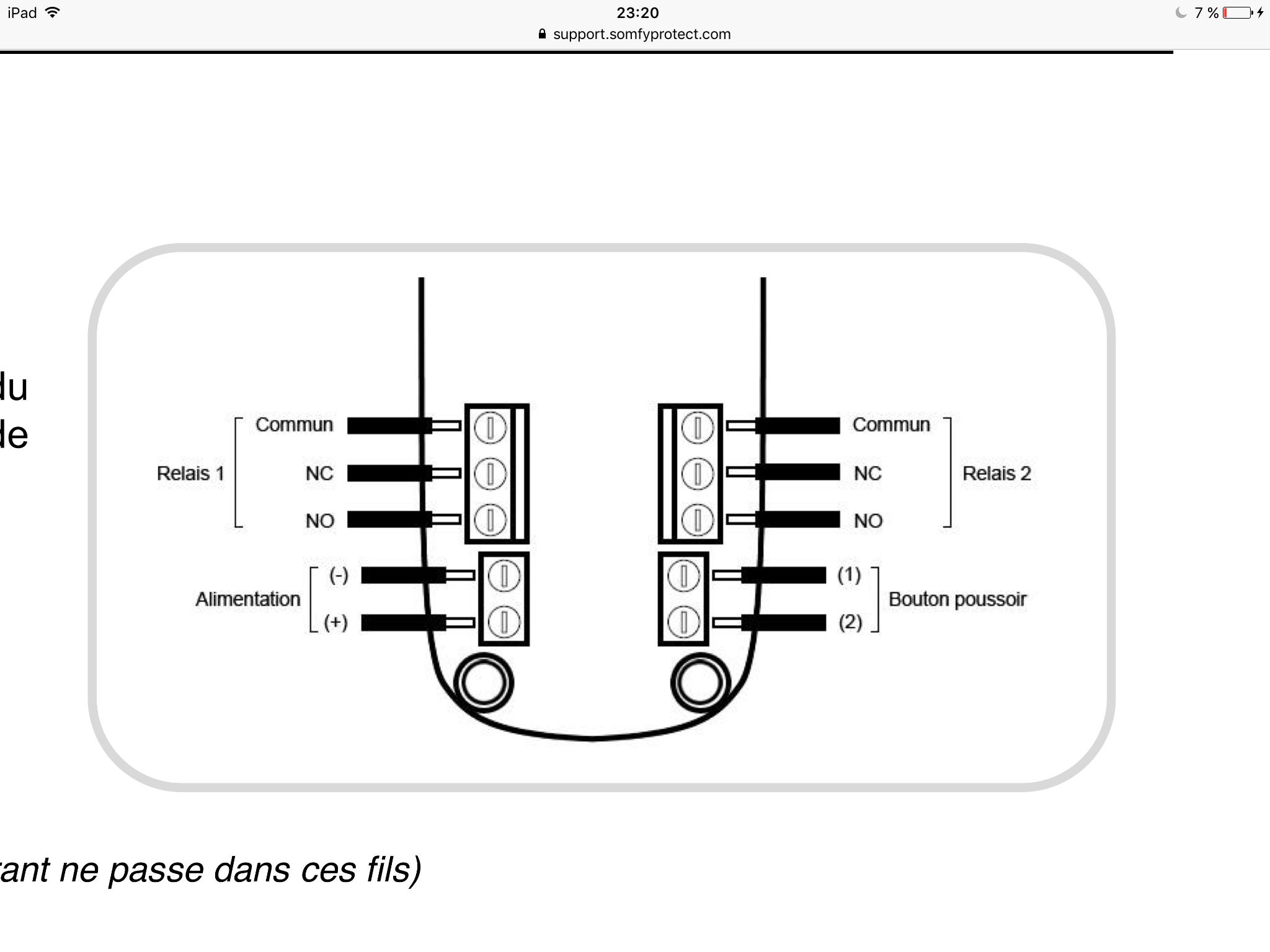 Connexion moteur bft portail avec recepteur universel for Moteur garage bft