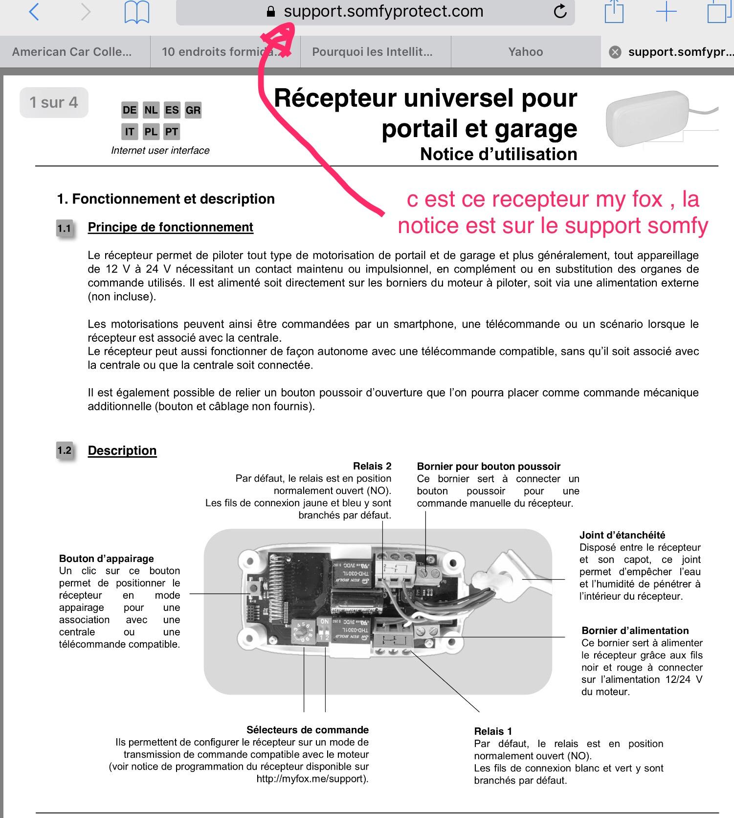 Connexion Moteur Bft Portail Avec Recepteur Universel