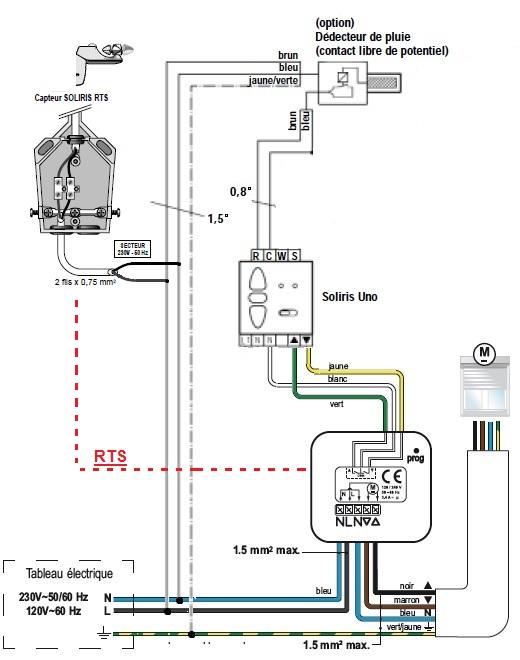 Somfy capteur soliris rts et micro r cepteur volet roulant - Installer moteur volet roulant ...