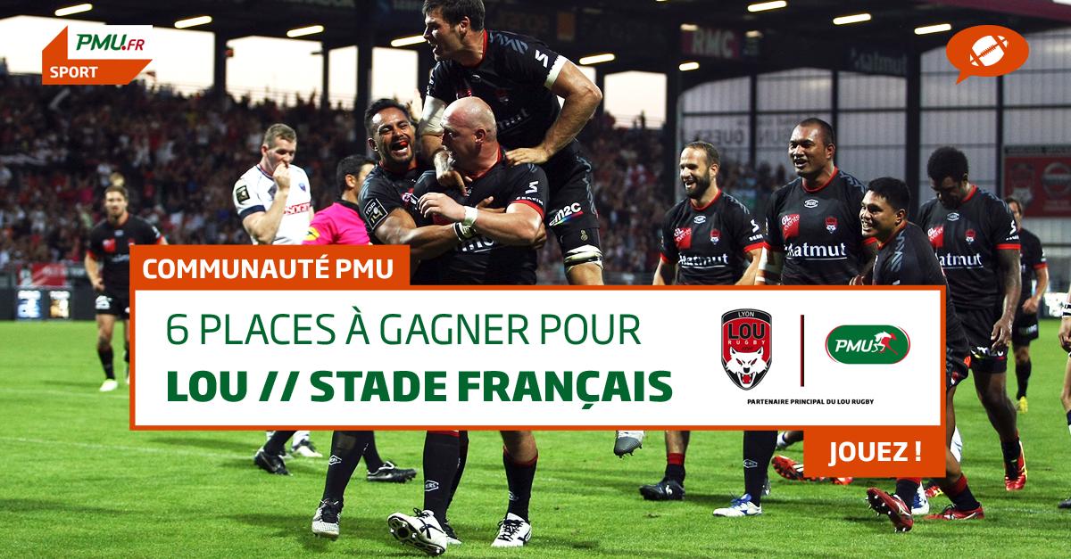 Jeu Lou Stade Français - 6 places à gagner
