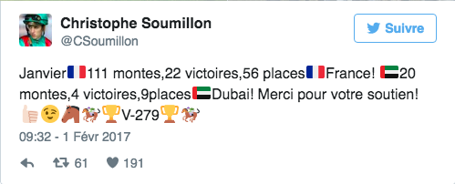 tweet de soumillon
