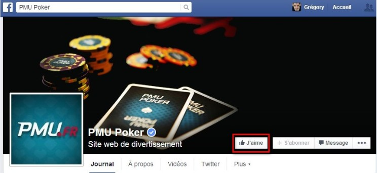 devenir fan FB pmupoker