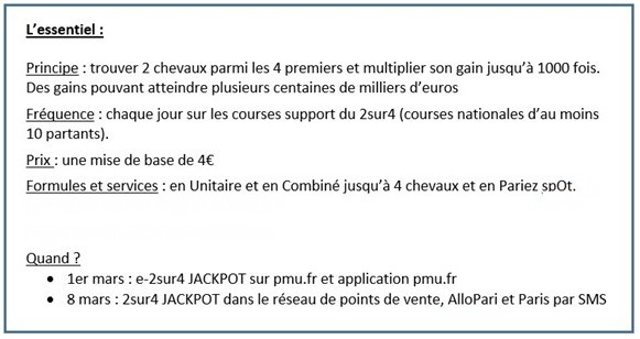 99d2db95f8b Le 2 sur 4 Jackpot disponible en mars - la chronicturf pmu turf ...