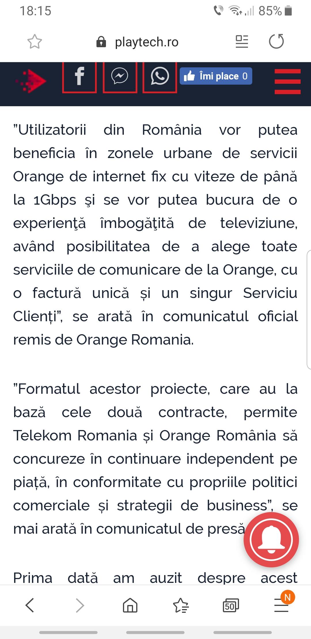 Acoperirea serviciilor internet si tv prin fibra optica la